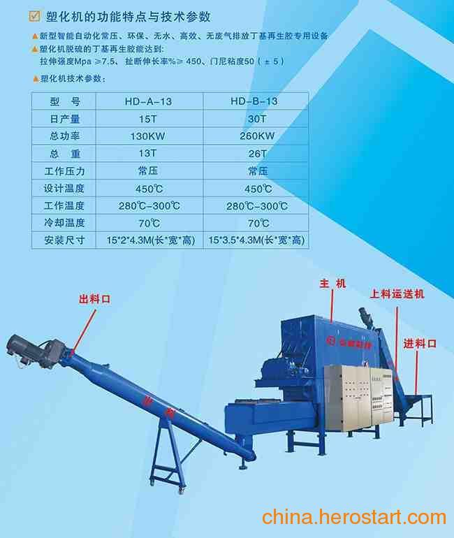 供应节能环保再生胶脱硫塑化机