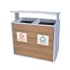 供应钢木分类垃圾桶