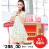 供应夏日新款蝴蝶结图案小高腰修身收腰蕾丝连衣裙
