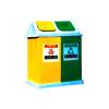 供应深圳欣方圳A23玻璃钢环保双分类桶