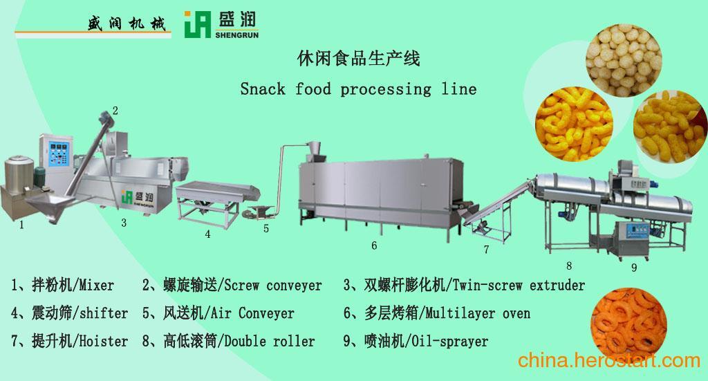 供应麦圈小食品生产线