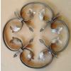 供应铁艺装饰花盘,焊接弯花厂家直销