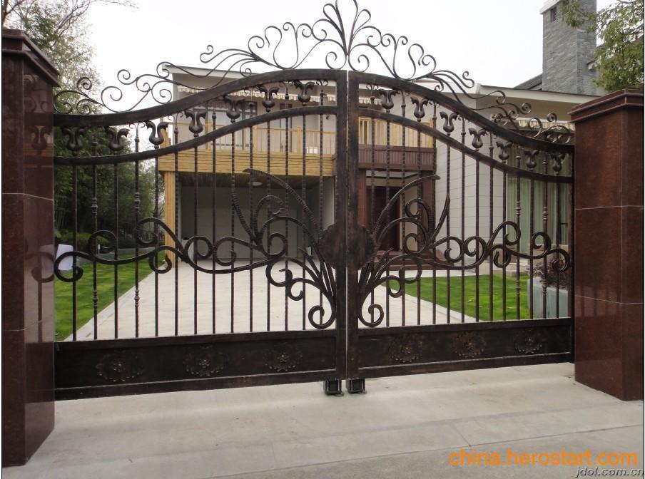 供应宁波铁艺门,电动铁艺门,铁艺围栏制作安装