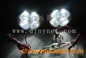 供应圆形-4LED日行灯 汽车通用LED雾灯改装 日间行车灯 圆形车灯 对装