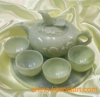 供应蓝田玉茶具  款式多样  可定制  西安批发