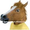 供应厂家供货乳胶马头面具,动物头套,万圣节面具,犬马君面具