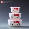 供应健康环保陶瓷保鲜碗 活动礼品陶瓷保鲜碗 可爱卡通陶瓷保鲜饭盒