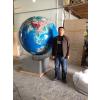 广东球体厂家12年专业供应直径1米的3D电动立体大型景观装饰地球仪