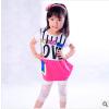 供应2014夏季新款童装字母宽松精品韩版t恤 品质童装42101厂家批发