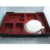 供应特大号仿木全新进口料生产A9-40便当盒高档质量餐具批发