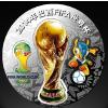 供应官方发行济南地区2014年巴西世界杯纪念银章 世界杯纪念品批发