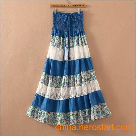 供应江苏南京韩版复古波西米亚裙厂家直销便宜气质最新款时尚时装长裙批