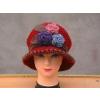 供應韓版手鉤提花毛線針織女士帽子圍巾/毛線針織帽子/澳旸貝雷帽子