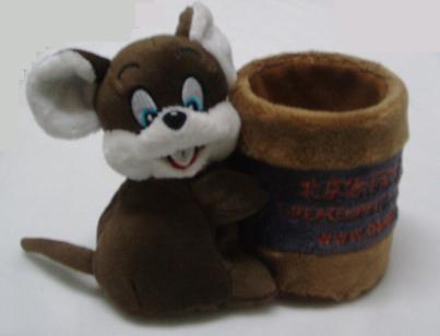 供应毛绒玩具鼠笔筒