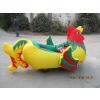 供应大公鸡充气电瓶车 儿童游乐充气电动车常