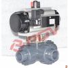 供应Q645F/Q644F UPVC气动三通球阀
