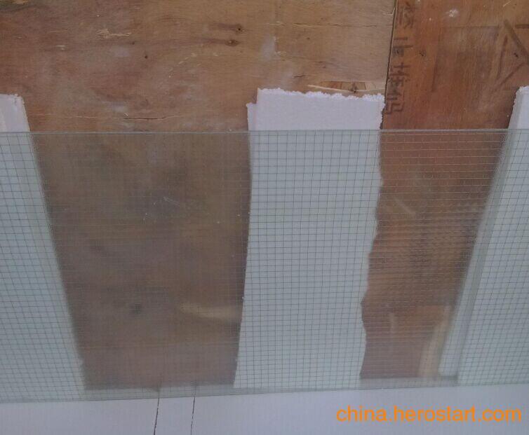 供应优质夹铁丝钢丝金属丝网玻璃