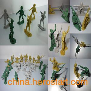 供应二战美国士兵模型 1:72塑料兵人塑料模型 怀旧军事战争玩具