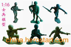 供应儿童益智士兵军事模型大号二战美国大兵系列环保小兵玩具