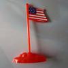 供应军事战争基地场景沙盘配件军旗红旗子旗帜美国德国旗军事道玩具