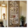 供应创意欧式铁艺弧形隔断 屏风 精美拱形时尚门花窗花玄关架