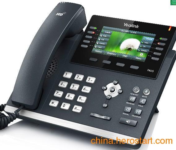 供应深圳专业IP融合通信,亿联T46G六线POE供电网络电话机