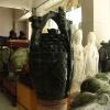 供应淄博工厂周年庆典礼品 大厅落地摆件 玉石一桶金 南玉雕刻工艺品