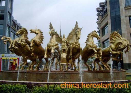 供应八匹马玻璃钢雕塑