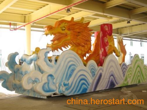 供应北京玻璃钢彩绘花车雕塑