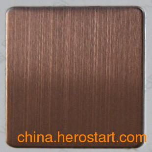 供应大量现货彩色不锈钢古铜拉丝装饰板