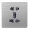 供应零售法国浪漫风情86-V8系列墙壁开关酒店专用开关插座多功能五孔插座