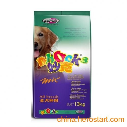 供应妙克K3什锦成犬粮足量的大蒜素,加强综合营养水平