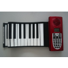 供应博锐61键可折叠硅胶软电子琴、多功能手卷钢琴批发