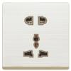 供应办公特卖跷板式多孔插座电器五孔插座二极多功能插座二三极插座