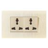 供应组合六孔开关插座单控荧光带三极开关二位多功能插座