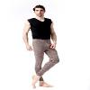 个性男士打底绒裤:时尚都兰诺斯澳毛男抽条裤推荐