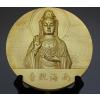 供应厂家直供 可定制各种logo大铜章 南海观音纪念大铜章 人像纪念铜章