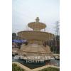 供应山东黄锈石大型园林石雕喷泉