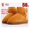 供应新款雪地靴 真皮雪地靴厂家直销批发 3352 低筒女靴保暖