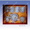 供应陶瓷茶具   青花手绘陶瓷茶具