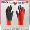 供应13针尼龙皱纹乳胶手套 防滑起皱工作手套透气耐磨防刺手套602