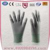 供应厂方直销碳纤维PU指手套无尘耐磨防静电手套13针尼龙902