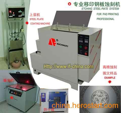 供应专业移印钢板钢片蚀刻机及配套系统