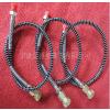 供应高压打气筒软管,半米加不锈钢护簧加铜母头,压力64mpa
