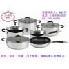 供应复合底平底锅26cm 高档豪华不锈钢锅具 韩国烹饪进口锅具