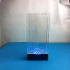 供应定做亚克力旋转资料架 LED资料架 旋转LED台卡