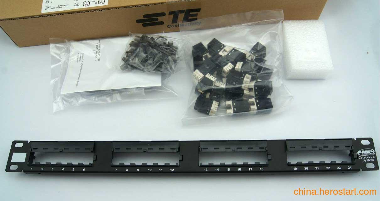 供应全新TE六类24口配线架 安普总代 8-1933796-2独立模块