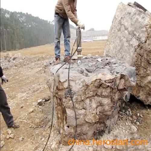 供应提供荒料大理石花岗岩石分解拆除设备液压分裂机