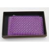 供应批发定作羊皮紫色编织钱包女士手包女式卡包可来样定做
