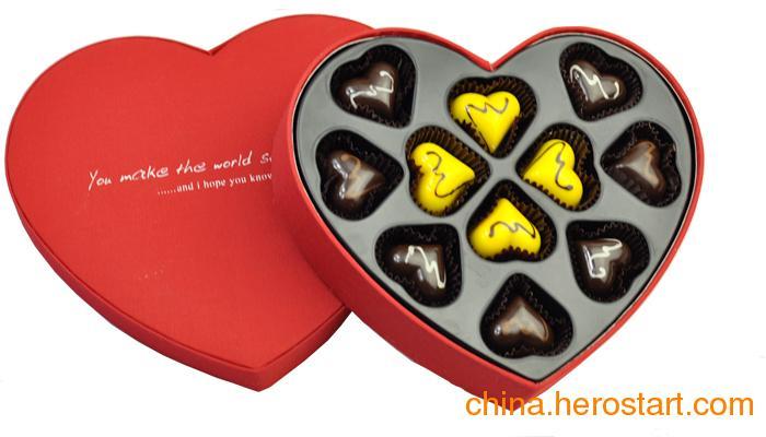 金牌供应商定制巧克力托 心形巧克力内托 巧克力吸塑内托
